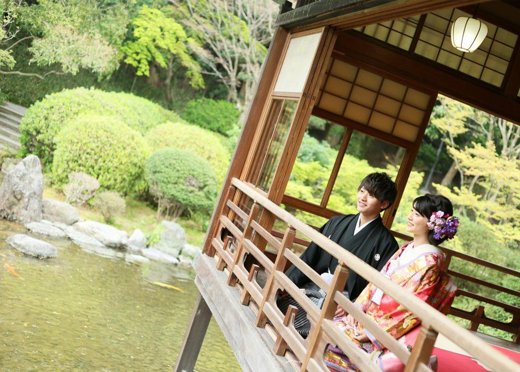 日本庭園2着中