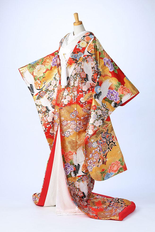 桜花飛翔鶴