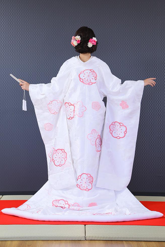 白地ピンク桜紋